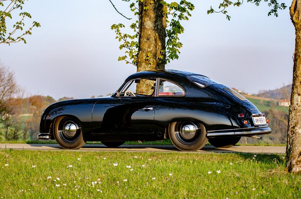 porsche noir voiture de luxe