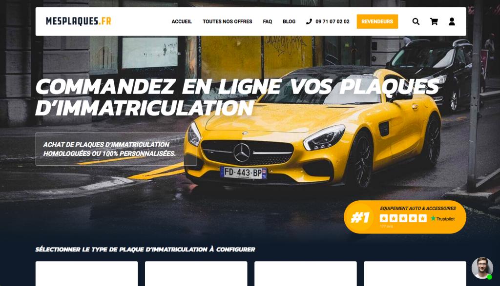 site internet mesplaques.fr