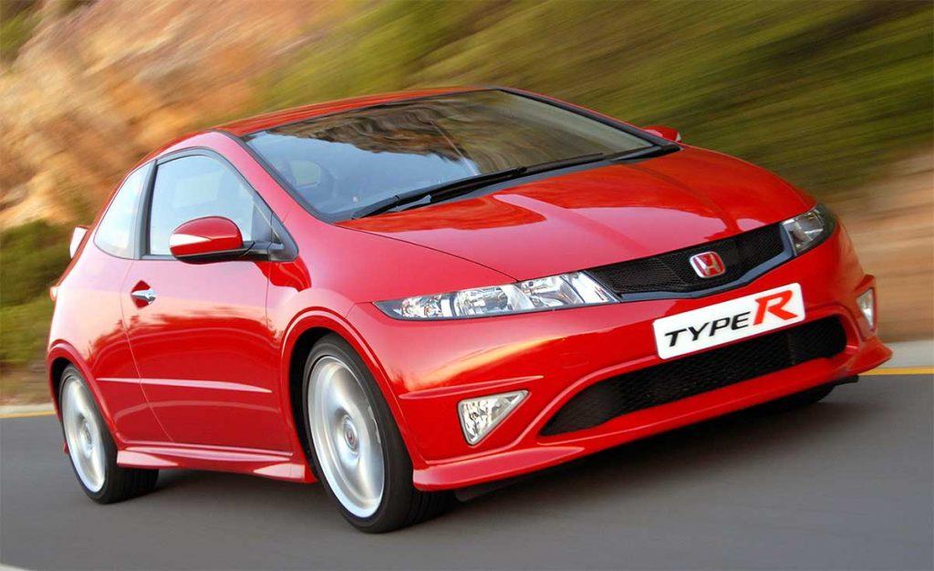 Honda Civic Type R FN2 rouge